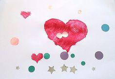 Tuto activité créative pour enfant gratuit de la peinture avec des pochoirs home-made premier âge
