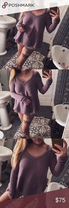Free People purple thermal This thermal is super cozy! And perfect for this chilly weather 🌄☕️ Free People Tops Tees - Long Sleeve