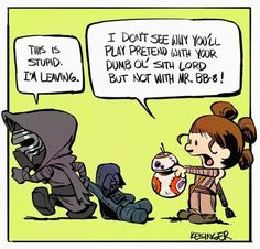 Last month, Disney Animation Studios artist Brian Kesinger delighted fans of all things geeky and cute with a series of drawings account featuring Star Wars: The Force Awakens characters in the style of beloved comic strip Calvin and Hobbes. In his first batch of excellent 'toons, Kesinger put Resistance