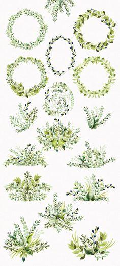 Watercolor Wild Herbs vol.3 by Spasibenko Art on @creativemarket