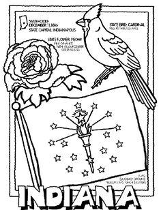 indiana state symbol coloring page by crayola print or color online