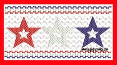 Faux Smocked Stars Embroidery Design
