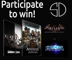 We are having a Halloween giveaway this year! We're giving away some awesome games powered by NVIDIA GeForce: Grand Prize –Choose between Tom Clancy's Rainbow Six Siege or Assassin's Creed: Syndicate 2nd Place – Batman: Arkham Knight 3rd Place –Heroes of the Storm: Diablo hero, Kaijo skin and a seven day experience booster All you … Continue reading Halloween Giveaway: Bullets or Blades