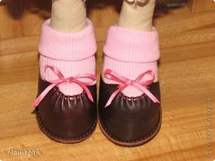 Mimin Dolls: botinha de couro para doll