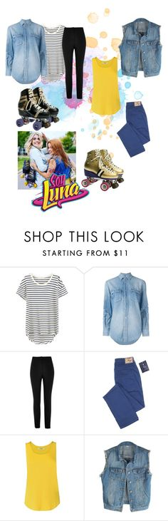 """""""soy luna"""" by maria-look on Polyvore featuring Splendid, Yves Saint Laurent and River Island"""