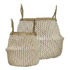 Zig Zags have always been a firm favourite around here, and so we have woven some recycled paper into our classic Original Belly Basket to create this fun design. Available in Medium and Small.    Fairtrade and handmade with love