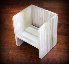 chaise cube pour toutpetits par naturababy sur etsy