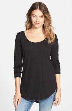 BP. Scoop Neck Long Sleeve Tee | Nordstrom $18 in black, in burgundy, and in white please! (i have no long sleeve t shirts...)