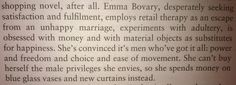 Madame Bovary. Materialism. Love. Misfortune.