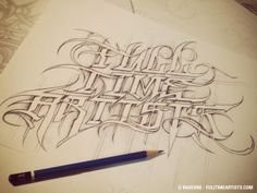 Full Time Artists F.T.A 1991 - Now By Raseone Graffiti Lettering Alphabet, Tattoo Fonts Alphabet, Chicano Lettering, Typography, Graffiti Art, Tattoo Lettering Styles, Lettering Design, Cool Tattoo Drawings, Graffiti Wildstyle