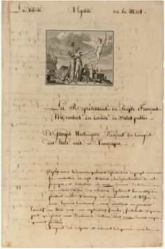 Letter to George Washington from the Comité de Salut Public.