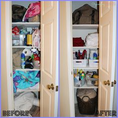 TWO Linen Closet Makeovers!