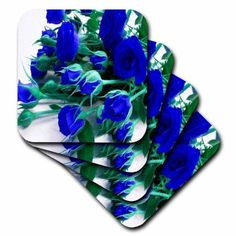 3dRose Pretty Bouquet Of Blue Roses.jpg, Soft Coasters, set of 8