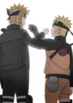 Minato Namikaze&Naruto Uzumaki.