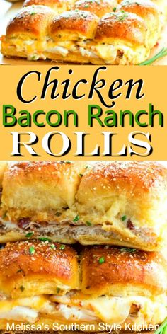 Enjoy these delicious rolls as an appetizer, snack or an easy dinner sandwiches Chicken Bacon Ranch Pull Apart Rolls Beef Bourguignon, Bacon Appetizers, Appetizer Recipes, Party Appetizers, Quick Appetizers, Chicken Appetizers, Brunch Recipes, Dinner Recipes, Slider Sandwiches