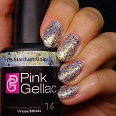 Pink Gellac 175 Stardust Gold Gel-Nagellack via pinkgellac.de