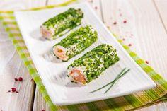 rolky z uzen. Fresh Rolls, Asparagus, Tapas, Sushi, Vegetables, Tableware, Ethnic Recipes, Image, Dinnerware