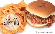 #FoodFunHop :: Salsa Sloppy Joes by http://www.livelaughrowe.com/