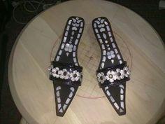 Sedef Kakma Takunya Mille, Istanbul, Flip Flops, Ivory, Pearls, Sandals, Handmade, Fashion, Night