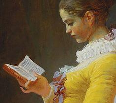 Lezende vrouw, door Jean Honoré Fragonard