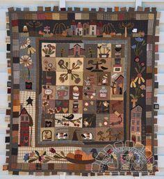 Retazos de mi vida  edredón patrón patrón de papel quilt