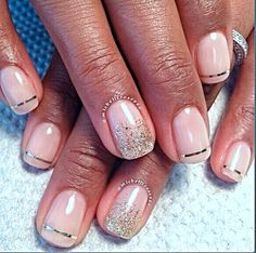 Pink & Silver Glitter | Nail Art