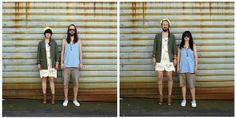 違和感の無い女性と違和感しか無い男性、カップルの服を交換した写真22枚 - DNA