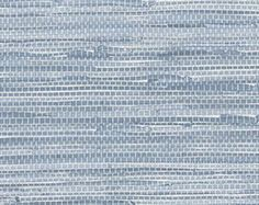 Blue Simulated Grasscloth Wallpaper - Faux Texture, Woven, Natural, Nautical, Organic Decor, Beach House, For Wall - By The Yard - PA34213so
