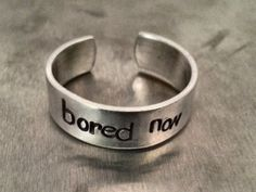 Bored Now Sherlock Ring by prettylittlthings on Etsy, $7.50