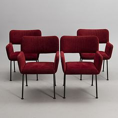 YRJÖ KUKKAPURO, A SET OF FOUR L-32 MODERNO CHAIRS BY YRJÖ KUKKAPURO, 1970s.