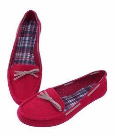 18c280a58 Mocassim Confort Vermelho - Direto da fabrica - Jaú / SP - Sapatilhas ,  Scarpin , Bota , Rasteirinha e Infantil - Atacado e varejo - Território do  calçado.