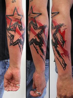 trash polka tattoo -