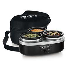 Crock-Pot® Little Triple Dipper® Food Warmer, Black $29