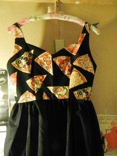 Pizza Party Backless Sundress by noslowjams on Etsy, $65.00