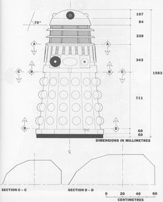 Anatomy of a Dalek: Egg Beater + Toilet Plunger + Salt Shaker. Doctor Who Dalek, Doctor Who Fan Art, Doctor Who Quotes, Eleventh Doctor, David Tennant Doctor Who, Rose Tyler, Technical Drawing, Nerd Geek, Dr Who