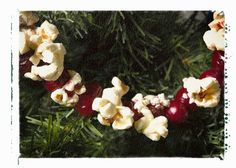 Watch a classic Christmas movie, as everyone helps string cranberries and popcorn for a home-made garland.