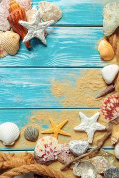 Ocean Wallpaper, Summer Wallpaper, Wallpaper Backgrounds, Mickey Mouse Wallpaper Iphone, Seashell Painting, Summer Backgrounds, Cute Patterns Wallpaper, Sea Art, Seashell Crafts