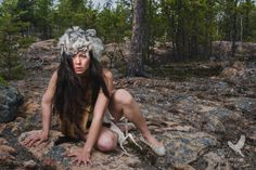 Fierce | Portrait with Northern Canada inspiration | Yellowknife Canada | Swift Sparrow Photography