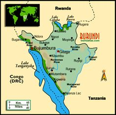 Map of Burundi Burundi Africa Pinterest Africa and Vacation