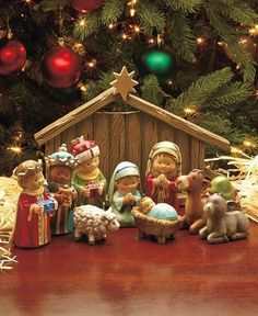 A Complete Nativity or Ornament Set makes a meaningful addition to your Christmas decorations. The set is a beautiful representation of the true reason for the season. The Complete Nativity Set celebrates Jesus' birth with main characters f Christmas Nativity Set, Christmas Mantels, Christmas Love, A Christmas Story, All Things Christmas, Christmas Holidays, Christmas Crafts, Christmas Decorations, Holiday Decor
