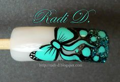 It`s all about nails: Step by Step Emerald Bow