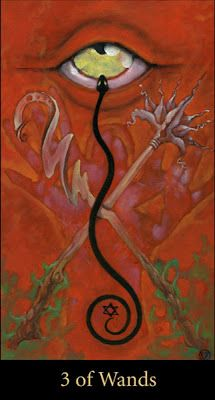 Mary El tarot - Three of Wands