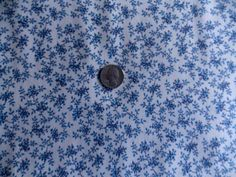 Scrap Happy Quilt Fabric Out Of Print Reproduction Premium Cotton Blue Floral #ExclusivelyQuilters