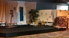 This is the backdrop for the whole week in our One of a kind Bible Adventure room