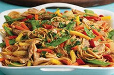 Pork Lo Mein recipe by Kraft foods. Use fresh veggies instead much better! Kraft Foods, Kraft Recipes, Pork Recipes, Asian Recipes, Chicken Recipes, Cooking Recipes, Healthy Recipes, Ethnic Recipes, Recipies