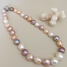 Natural Color Baroque Pearl Necklace by JiaojiaosPearls on Etsy