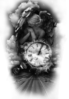 angel # ink amazing black and gray# art - Matthias Richter Black Ink Tattoos, Black And Grey Tattoos, Leg Tattoos, Body Art Tattoos, Sleeve Tattoos, Tattoos For Guys, Buddha Tattoos, Unique Tattoos, Beautiful Tattoos