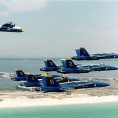 over...⚓... the...⚓... yardarm . . . in honor of Veteran's Day ~ Blue Angels over Pensacola
