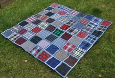 Name: 'Quilting : Denim Picnic Blanket pattern Patch Quilt, Quilt Blocks, Lattice Quilt, Waterproof Picnic Blanket, Plaid Quilt, Rag Quilt, Picnic Quilt, Quilt As You Go, Quilting Tutorials