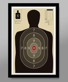 Official Gun Range Target Practice Poster - Print 323 - Home Decor Tupac Art, Range Targets, Gun Rooms, Man Cave Art, Shooting Targets, Target Practice, Shooting Range, Cool Posters, Dorm Decorations